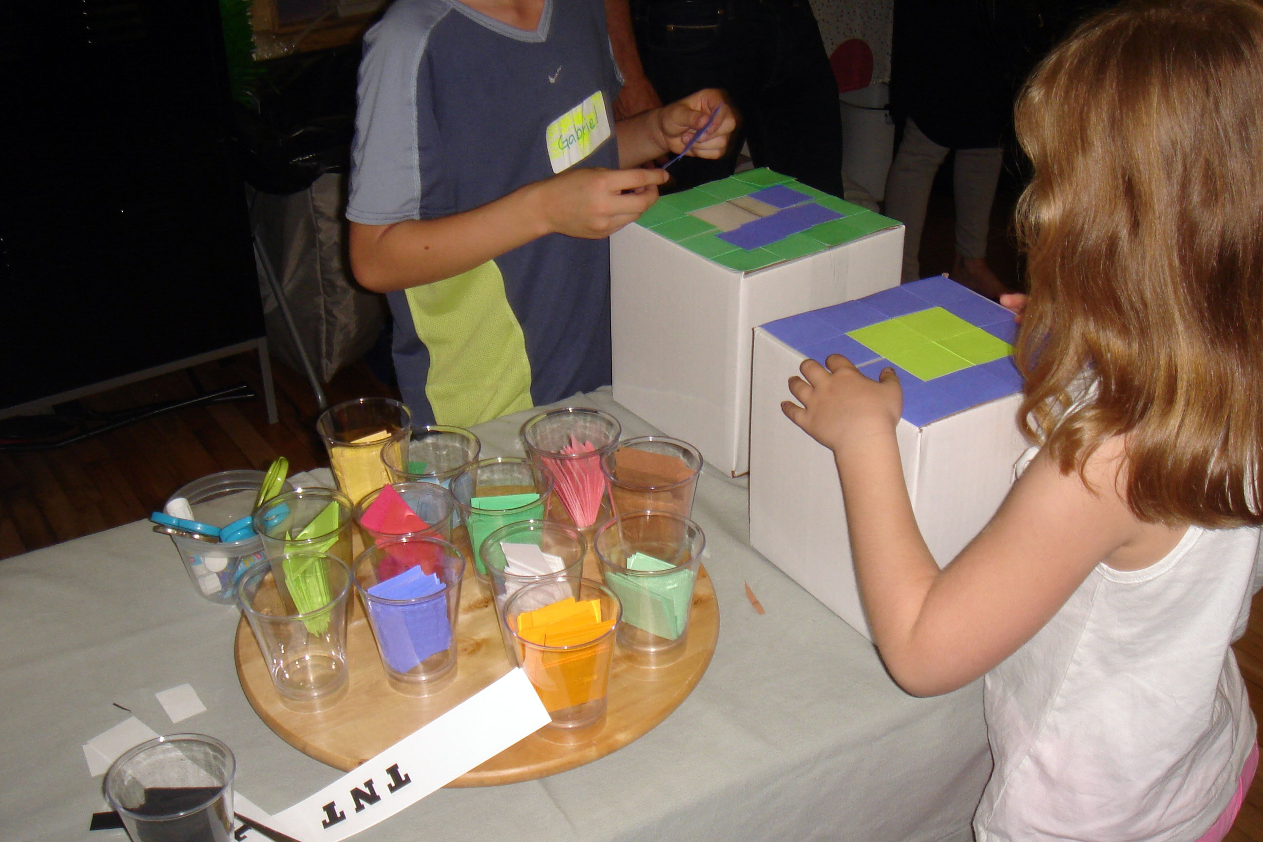 Minecraft Party incorporates arts & crafts