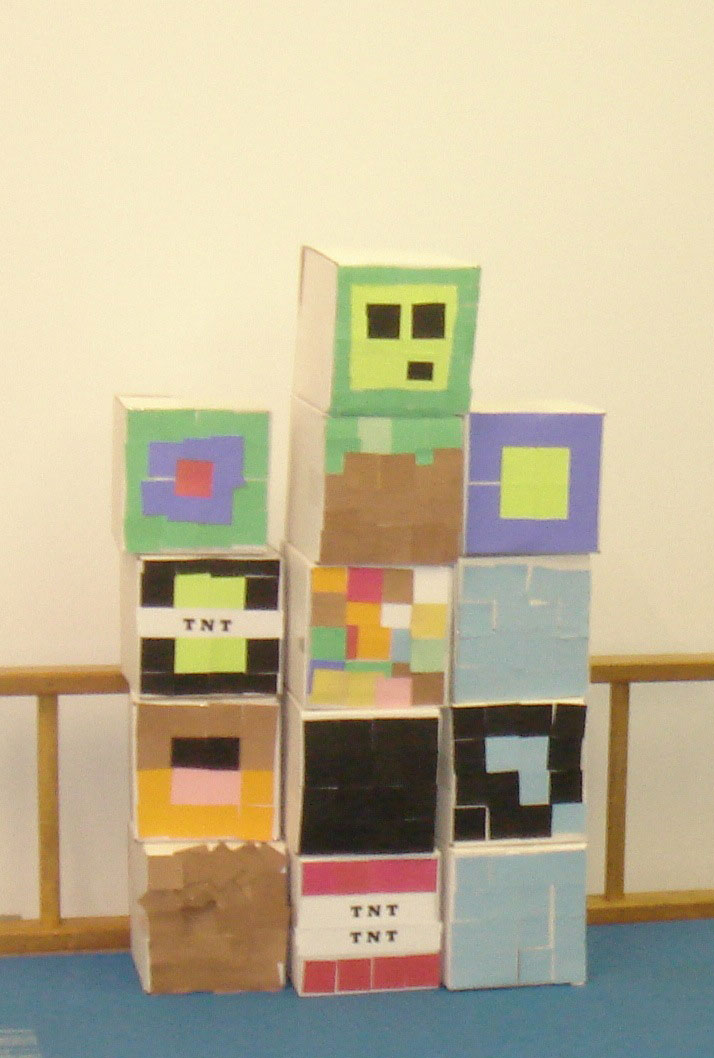 Minecraft blocks designed by guests